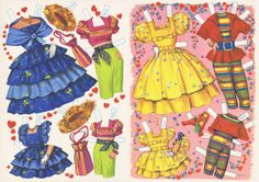 6 and Sweet 16, 1960s Paper Dolls