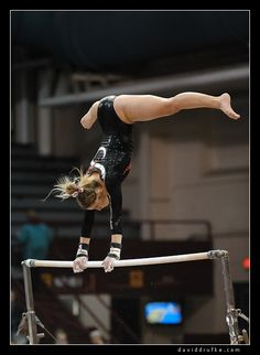 Women's Gymnastics - Nebraska at Minnesota gymnast on uneven bars moved from Gymnastics: Collegiate board #KyFun