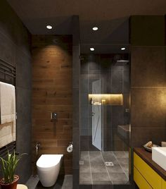 01 cool bathroom shower makeover decor ideas - Bäder - Pictures on Wall ideas Tiny Bathrooms, Tiny House Bathroom, Bathroom Layout, Modern Bathroom Design, Bathroom Interior Design, Beautiful Bathrooms, Small Bathroom, Bathroom Ideas, Shower Ideas