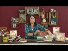 3D artist, Christy Tomlinson teaches us how to combine paint and paper to create beautiful backgrounds on canvas.