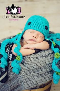 Octopus Hat<---I'm definitely doing a knitted version of this!!!