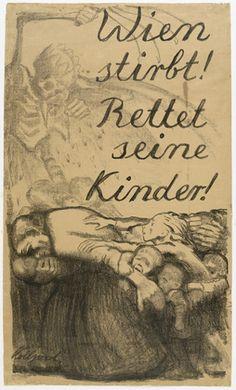 Käthe Kollwitz - Vienna is dying! Save its children!