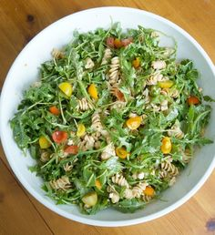 Lemon Arugula Pasta Salad | tomatoboots.co