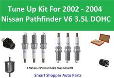 PCV Valve, Air Fuel Oil Filter, Spark Plugs Fit 2002 2003 2004 Nissan Pathfinder #StandardMotorProducts