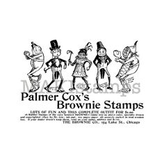 Stempel # Brownie stamp set vintage advertisement / Unmounted by MAKIstamps, €4.70