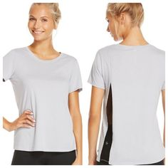 Fabletics Hyponos tee A tee that is draped and detailed in all the right places. Get in some airflow after class by reaching for this mesh back base layer. It even doubles as a nightime staple.No trades. All sales final. Fabletics Tops Tees - Short Sleeve