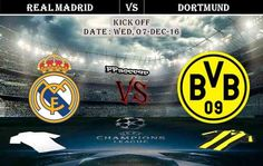 Real Madrid vs Borussia Dortmund 07.12.2016 Predictions - PPsoccer