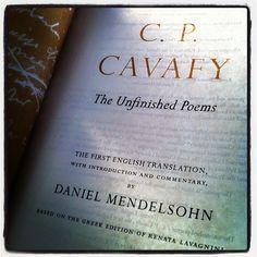 Reading Mendelsohn's #Cavafy on a May Evening by Dr John2005, via Flickr