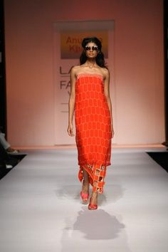 Indian Designer Anushka Khanna at Lakme Indian Fashion Week as part of Summer 2013. Follow Strand of Silk to get the best of Beautiful Indian Fashion from leading Fashion Designers, including Contemporary Indian Fashion and Indian Bridal clothes like Sari