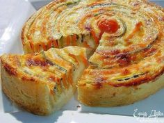 "Tarta de Vegetales ""Otoño Sol"" - Recetas Judias Vegetable Pie, Vegetable Dishes, Empanadas, Quiches, Veggie Recipes, Lunch Recipes, Vegetarian Recipes, Cooking Recipes, Healthy Recipes"