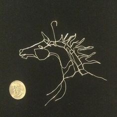 Wire Art 3in 2D Tiny Horse Head Ornament by Elizabeth Berrien