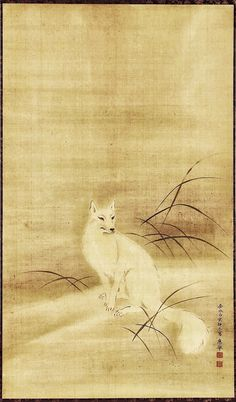 White Fox: Edo Jidai 1779; Attributed to Maruyama Ôkyo 円山 応挙: 圓山 應舉, (1733–1795)