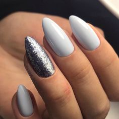 Have you discovered your nails lack of some stylish nail art? Sure, lately, many girls personalize their nails with lovely … Perfect Nails, Gorgeous Nails, Pink Gel, Ten Nails, Beauty Nail, Nagel Blog, Pointy Nails, Silver Nails, Manicure E Pedicure