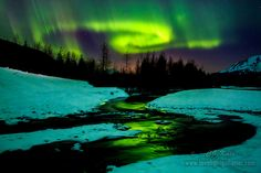 Taken on my first trip ever to shoot aurora in Alaska. This was from the amazing show on March 17 2013. Aurora river by Cj Kale on 500px