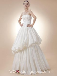 New Arrival! Fabulous Strapless Tiered Ball Gown Wedding Gown - Beautiful Wedding Gowns Wholesale and Retail Online~~