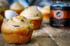 La cocina mexicana de Pily: Bollos de naranja y arándanos con miel de floració...