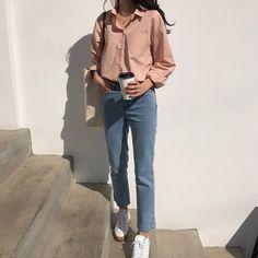 37 Ideas clothes casual outfit ootd for 2019 Korean Fashion Trends, Korea Fashion, Asian Fashion, Look Fashion, 90s Fashion, Girl Fashion, Fashion Outfits, Ulzzang Fashion, Hijab Fashion