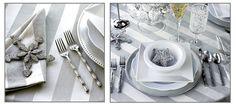 Silver and white decor