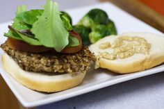 Spent Grain Burgers - the leftover spent grains made during a beer homebrew are put to good use with this vegi burger recipe