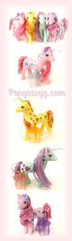 Beautiful Glittery Sweetheart Sister Ponies collection