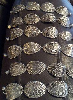 Stamped solder bracelets