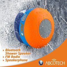 Bluetooth Shower Speaker – FM RADIO – Water Resistant – Wireless and Hands-Free speaker phone with Suction Cup – Auto Pairing Feature – Compatible with all Bluetooth devices Wireless Home Theater, Shower Speaker, Thing 1, Gadgets And Gizmos, Cool Inventions, Wireless Speakers, Cool Things To Buy, Pool Shower, Ebay