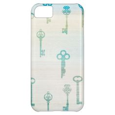 Aqua Vintage Keys iPhone 5C Case