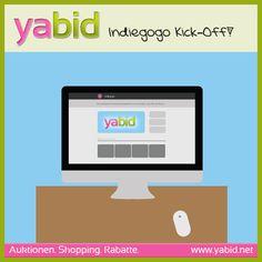 Heute starten wir unsere #Crowdfunding #Kampagne für #yabid auf #indiegogo. Lasst uns alle zusammen die Welt des Shopping, der Auktionen, Deals und Rabatte verbessern! Mit und für EUCH!!!  Link zur Kampagne: http://igg.me/p/568268/x/5192744