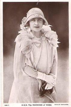HRH the Duchess of York (later the Queen Mum):