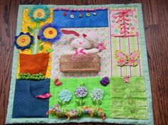 Busy+Garden+Girl++Fidget+Quilt+Tactile++Bright+by+EndearingDignite