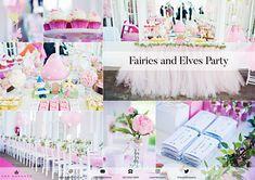 Fairies, elves, fairy party, pink, balloons, dessert table, www.lesenfants.co.uk