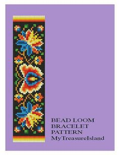 Bead Loom Vintage Motif 24 Matte Finishes Bracelet Pattern PDF