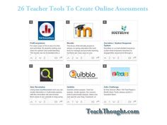 Need to create online assessments for a flipped classroom or for a blended learning environment? Here are 26 tools to get you started.