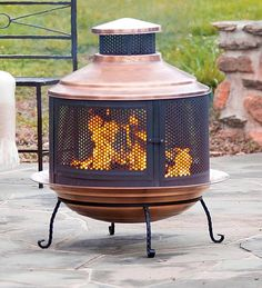 Turkish firepit/chimnea...need this so that we can use the patio in the winter!!!