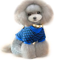 The New Pet Clothes Two Feet Sweater Dog Sweater Teddy Poodle Pomeranian Bichon Frise Schnauzer Clothes *** Check this awesome product by going to the link at the image. (This is an affiliate link and I receive a commission for the sales) Puppy Clothes Girl, Pet Clothes, Poodle Cuts, Dog Sweaters, Bichon Frise, Pet Dogs, Doggies, Dog Accessories, Schnauzer