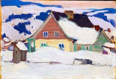 Paul, 1924 Clarence Alphonse Gagnon Oil Overall: x cm Gift of Barbara Rance, in memory of her husband, Dr. Charles Phillips Rance, 2004 © 2013 Art Gallery of Ontario Canadian Painters, Canadian Art, Landscape Art, Landscape Paintings, Clarence Gagnon, Baie St Paul, Art Gallery Of Ontario, Of Montreal, Snow Scenes