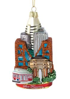 KURT ADLER 5.5'' San Francisco Glass Ornament