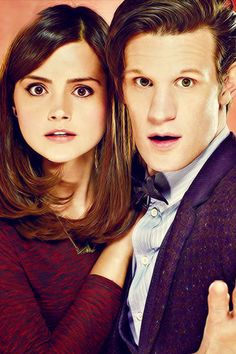 ksc Jenna Coleman and Matt Smith. Still one of my favorites of these two. Doctor Who, Eleventh Doctor, Jenna Coleman, Sherlock, Serie Doctor, Clara Oswald, Don't Blink, Torchwood, Matt Smith