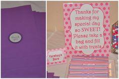 sweet shoppe favor ideas