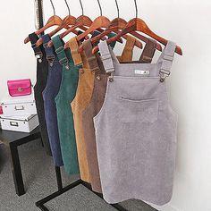 Women Sleeveless Casual Overall Dresses Mini Strap Suspender Dress Short Girls Dress