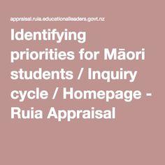 Identifying priorities for Māori students / Inquiry cycle / Homepage - Ruia Appraisal