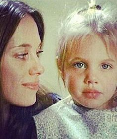 Angelina Jolie & Mother Marcheline - for all the haters who think Angelina has her lips injected... because a young child would do that in the 1970's.