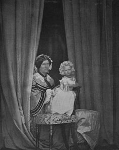 Leonida Caldesi - Princess Beatrice and Mrs Thurston, May 1858 [in Portraits of Royal Children