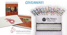 Hahnemühle Paper & 12 Tubes of Da Vinci Watercolor Giveaway!