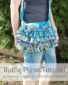 ruffled purse tutorial - so cute!