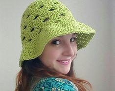 Stacked Shells Floppy Sun Hat - free crochet pattern - The Lavender Chair Crochet Vest Pattern, Crochet Shawl, Crochet Patterns, Free Pattern, Headband Pattern, Hat Patterns, Cardigan Pattern, Amigurumi Patterns, Top Pattern