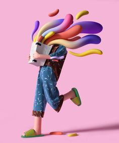 These free-flowing, bubbly illustrations by artist UV Zhu are delightful in their whimsy and color. The post UV Zhu& Colorful, Bubbly Illustrations appeared first on Moss and Fog. Motion Design, Design Thinking, Design Ios, Stuffed Animal Cat, Modelos 3d, 3d Artwork, Photoshop, Graphic Design Print, Fantasy
