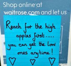 Post-it Number 640 - left at Waitrose.