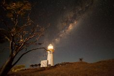 Mike Salway: lighthouse and Milky Way.