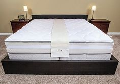 ExceptionalSheets Easy King Bed Doubler   Turns Two Twin Beds To A King